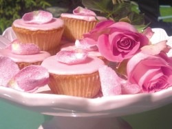 English Rose fairy cakes