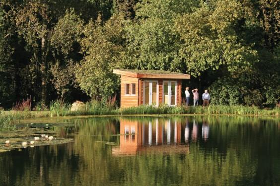 Pond and hut