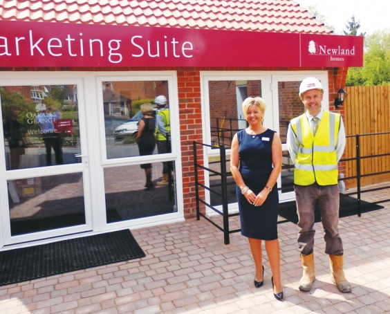 Adrian Lilley, Site Manager and Jo Smith, Sales Advisor, Newland Homes