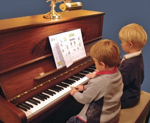 Kids and piano