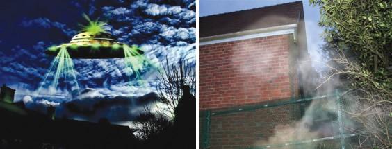 UFO and mist