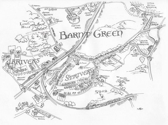 Anton's plan of Barnt Green