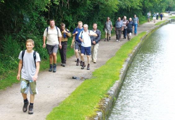 Walkers on the canal