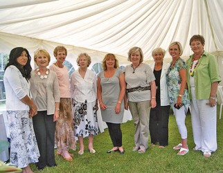 Committee members Jan Doyle, Anne Wilkinson, Carole Thomas, Mary Glover, Gill Deadicoat, Penny Noake, Ann Doyle, Chris Jenkins and Pat Cooke