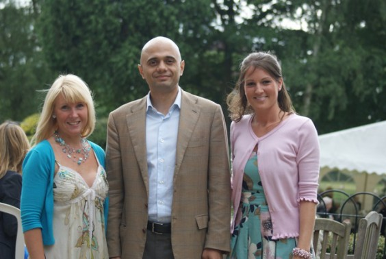 Stella Ricketts, Sajid Javid MP, Vicky Hall