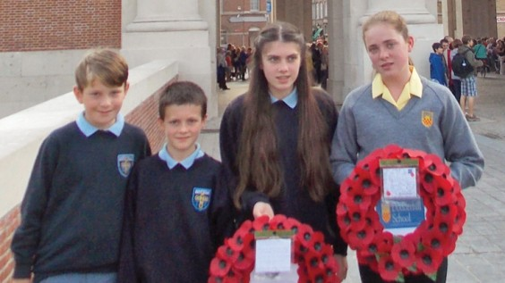 Kids at Menin Gate