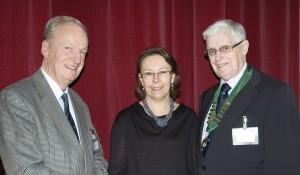 John Weston, Sarah Arrowsmith and Reg Longshaw