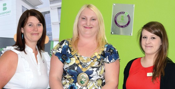 Coun Jones with Basepoint managers