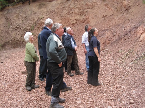 Eve Miles shows visitors the quarry