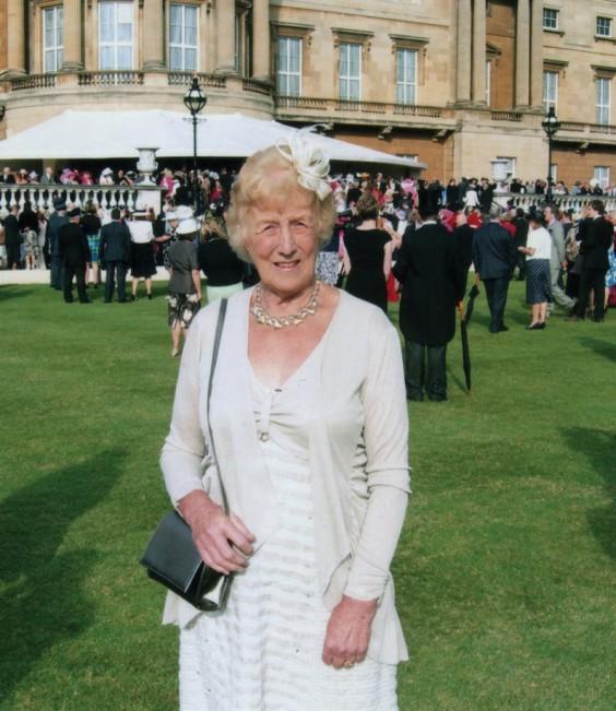 Wendy Tricklebank at Buckingham Palace