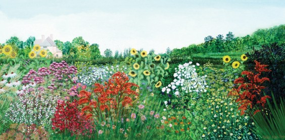 Gary's House, Late Summer Garden by Paula Hamilton