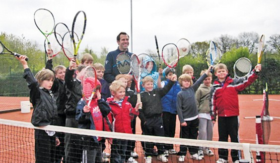 Greg with tennis kids