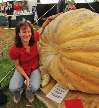 Hannah and the giant pumpkin