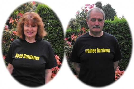 Head Gardener and Trainee