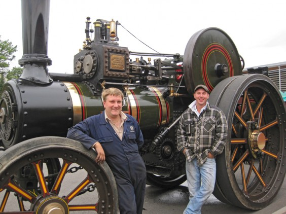 Traction engine at the library