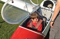 Scout in glider