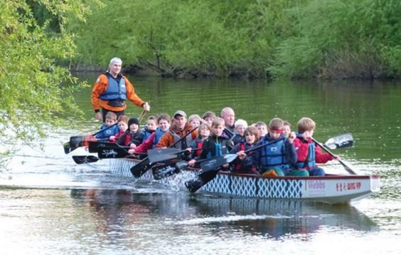 Scouts in boat