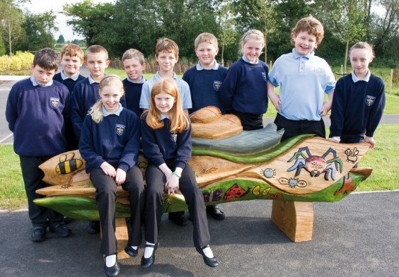 Pupils with bench