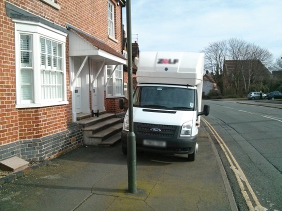Pavement parking in Alvechurch