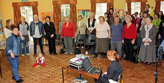 Lillian and the choir