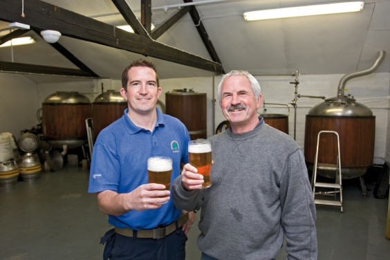 Dave and Toby with their award-winning beer