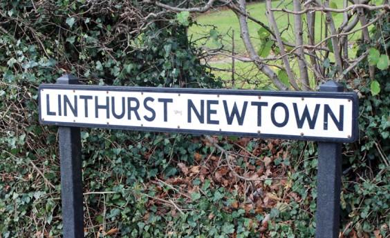 Linthurst Newtown sign