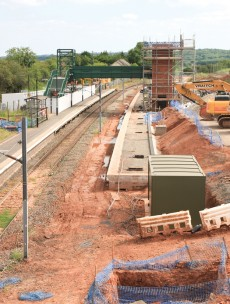 New station takes shape