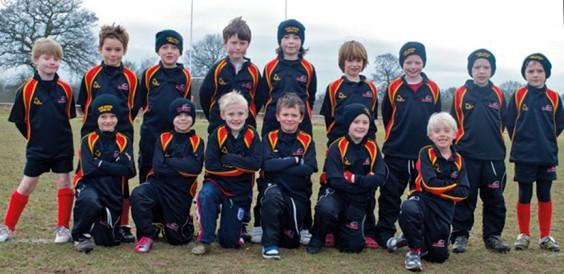 Under 8s Rhinos Tag Rugby team
