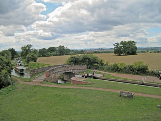 Locks and bridge at Tardebigge