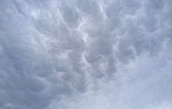 Mammatous clouds