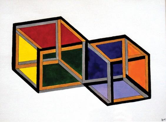 Optical illusion by Dave Morgan