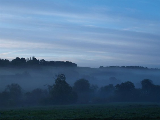 Autumn mist over Alvechurch