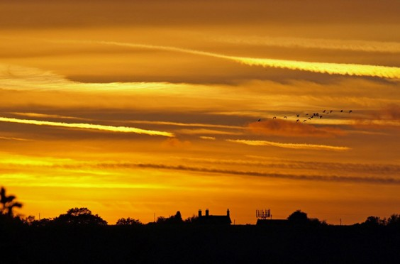 Sunset over Cooper's Hill, Alvechurch