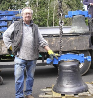 Colin Bennet with a bell