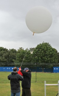 Weather balloon launch