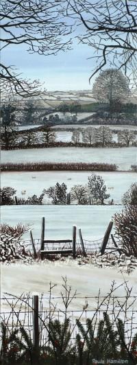 Paula's snowy painting