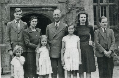 Ivor Miles and family at Hewell Grange