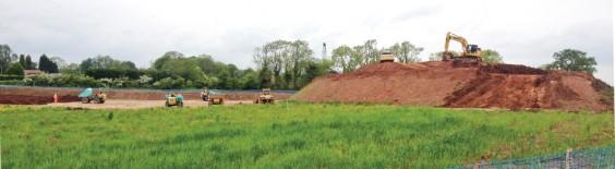Soil spreading begins