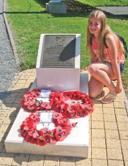 Eleanor with plaque