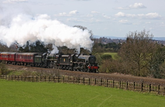 A double-headed steam run up the Lickey Incline