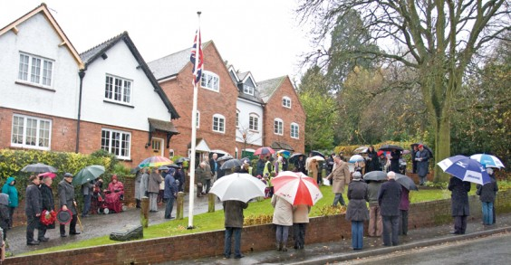 The Remembrance Day silence in Alvechurch