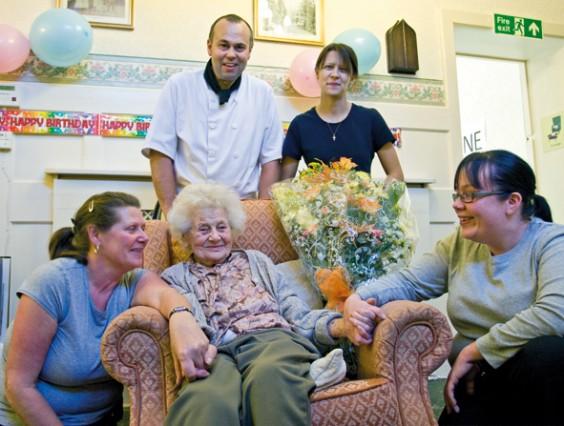 Kathleen Whitlock celebrates her 103rd birthday