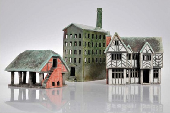 Neil Spalding's ceramic buildings