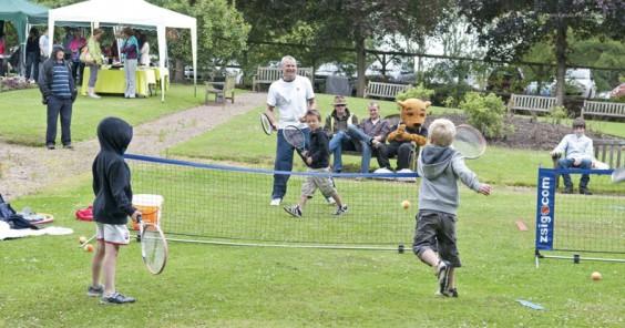 Tennis fun at the Old Rose & Crown